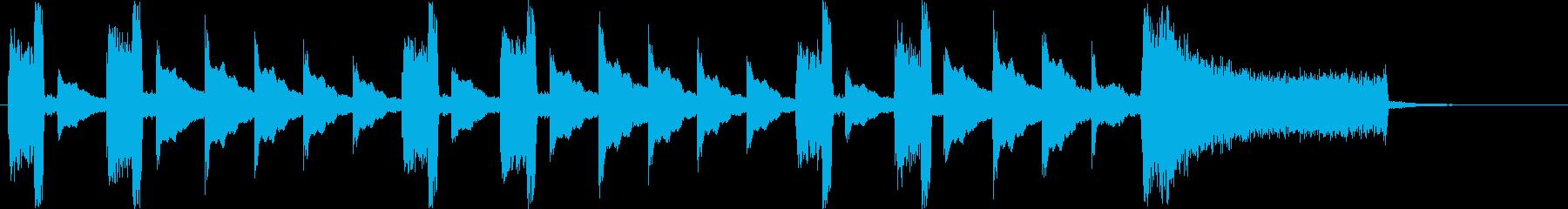 リズムアクセントのあるシンセサイザー音の再生済みの波形