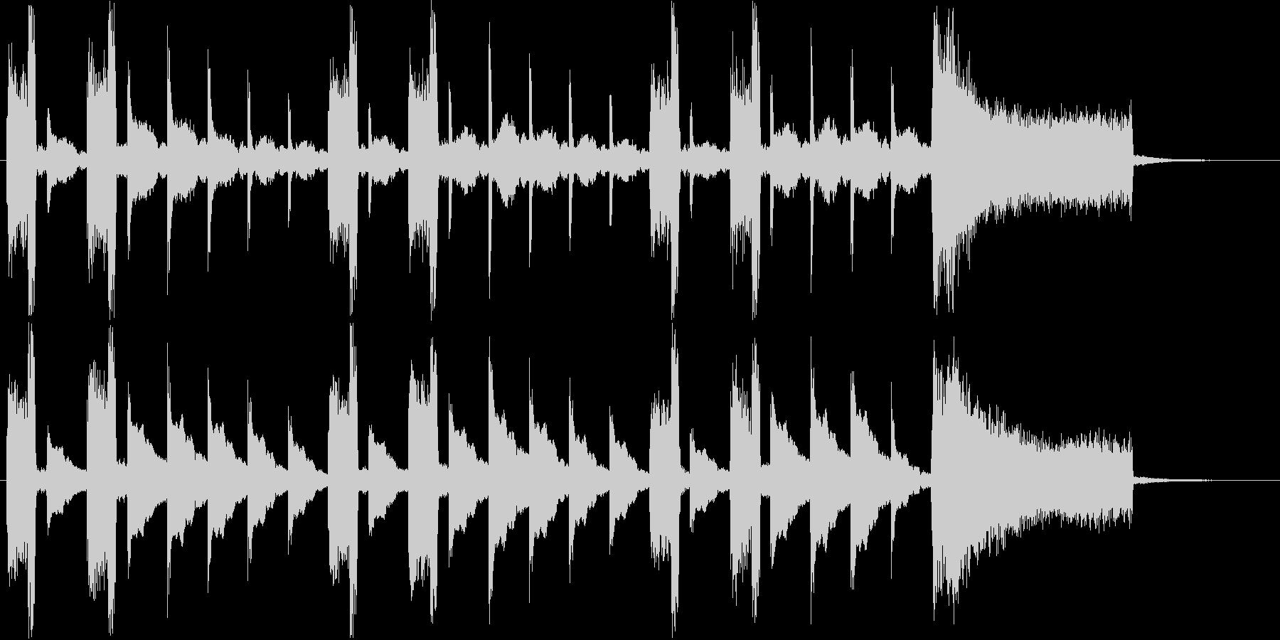 リズムアクセントのあるシンセサイザー音の未再生の波形