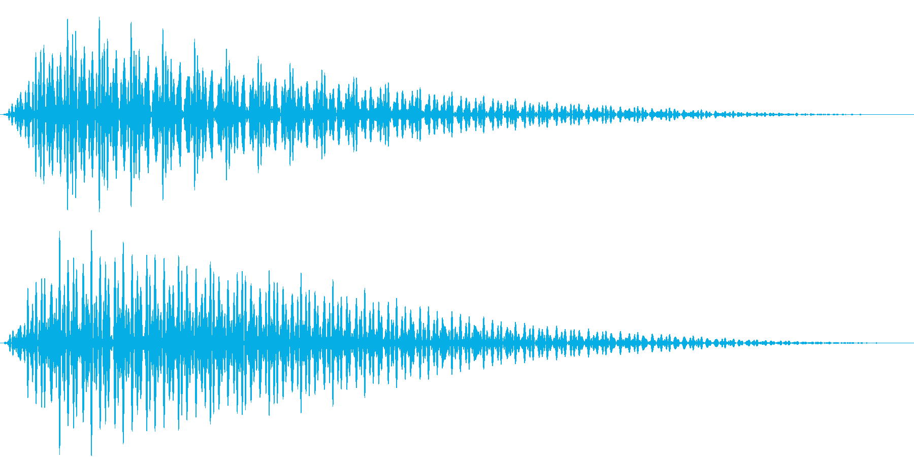 App エラー・キャンセル音の再生済みの波形