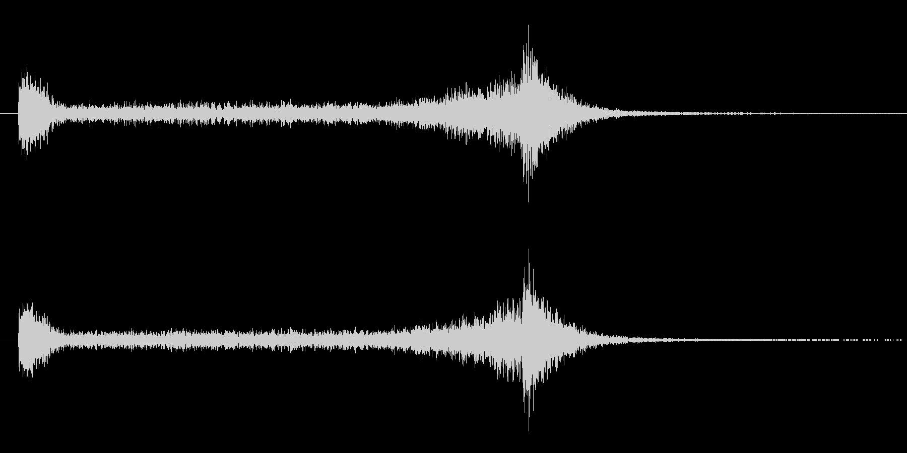 6秒間の豪華なドラムロールの未再生の波形