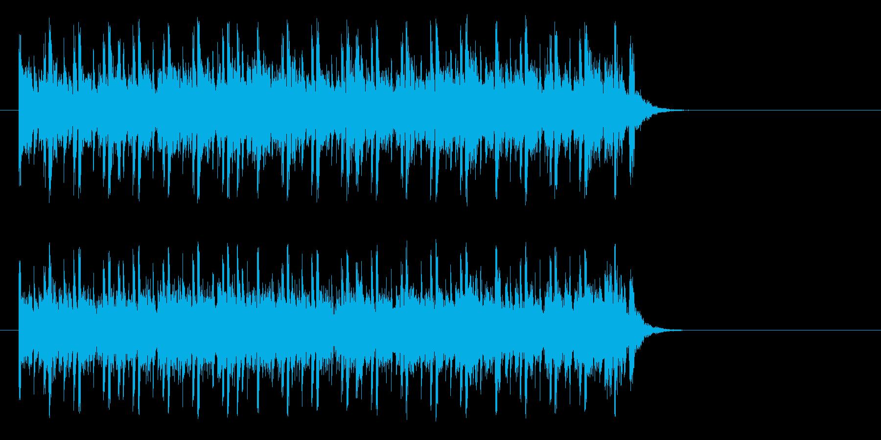 充実感溢れるポップ(サビ)の再生済みの波形