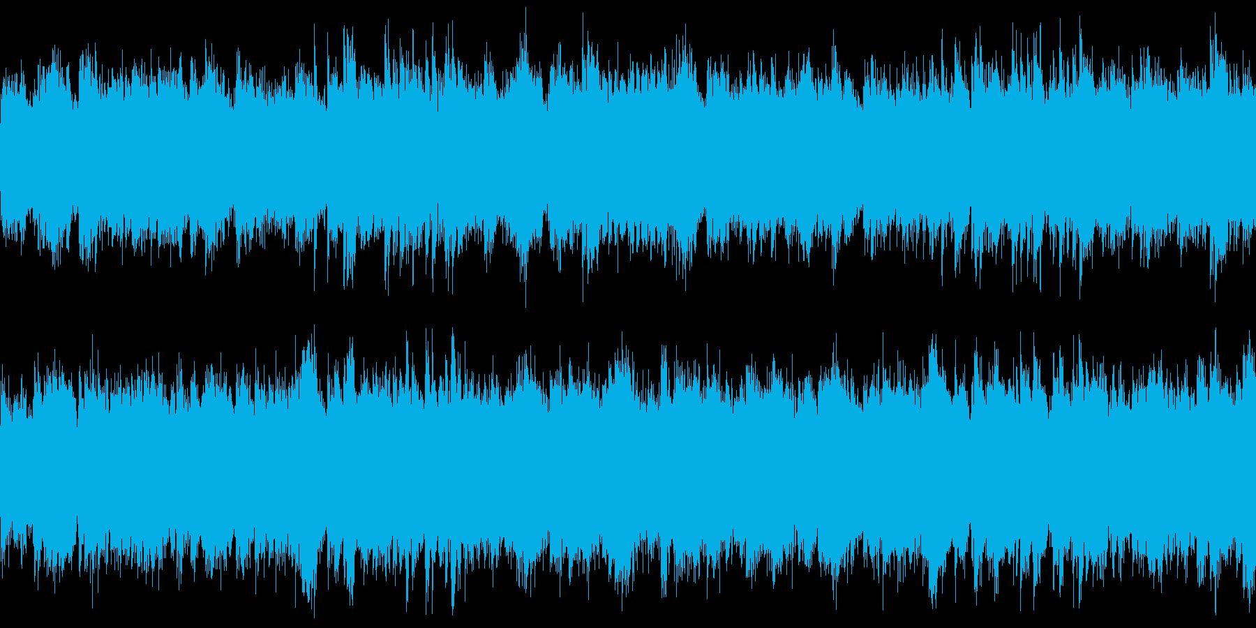幻想的でやや暗い雰囲気のピアノループの再生済みの波形