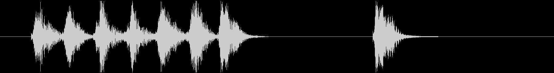 場面転換用ジングル サウンドロゴの未再生の波形