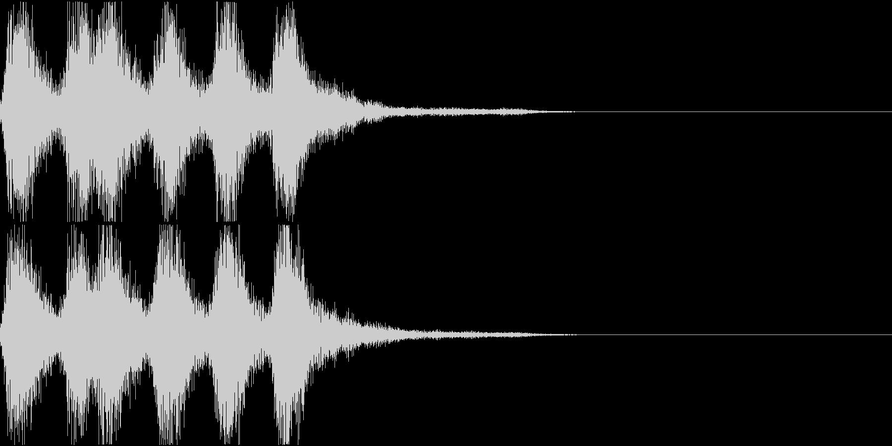 ラッパ ファンファーレ 定番 16 早いの未再生の波形