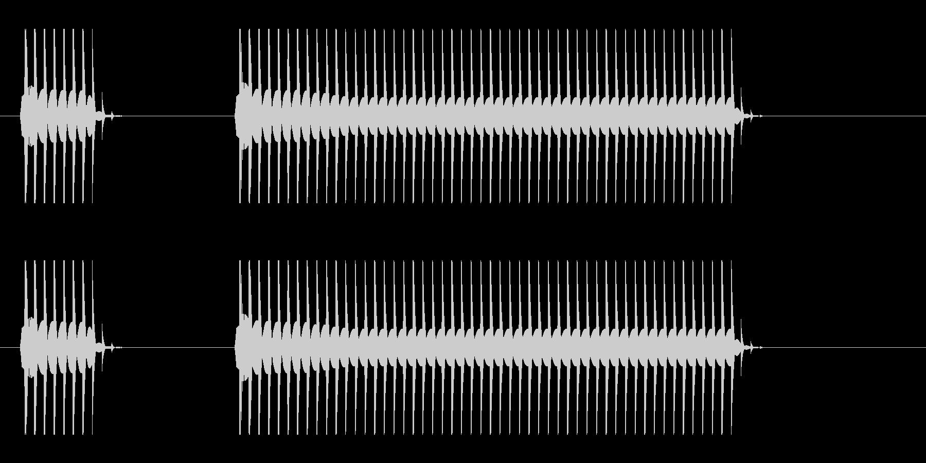 ブーブーと言うクイズ不正解音ですの未再生の波形
