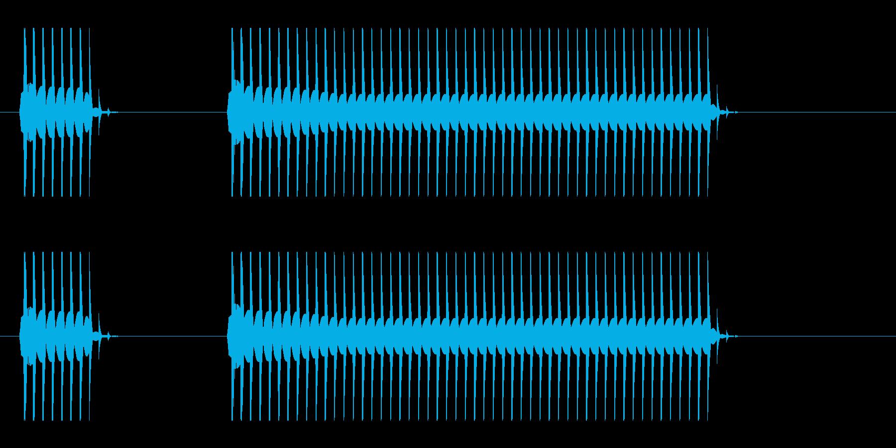 ブーブーと言うクイズ不正解音ですの再生済みの波形