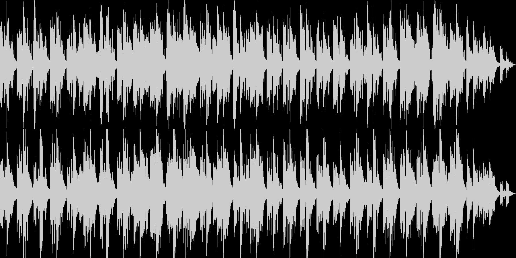 深海を思わせるような、ゆったりとした曲の未再生の波形