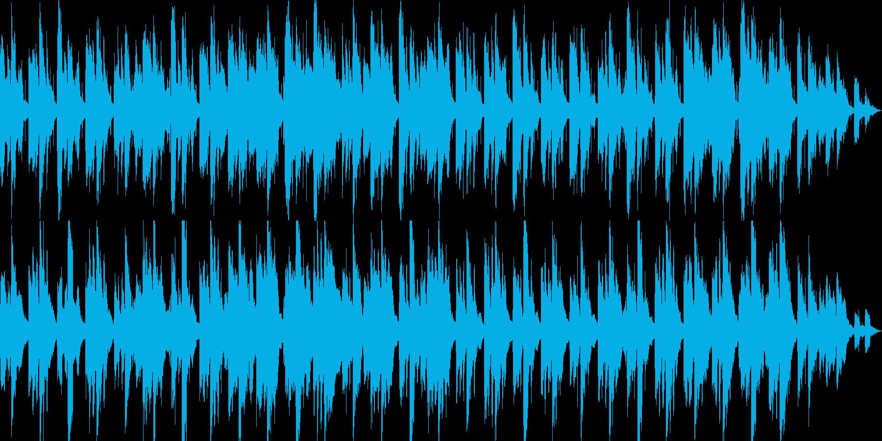 深海を思わせるような、ゆったりとした曲の再生済みの波形
