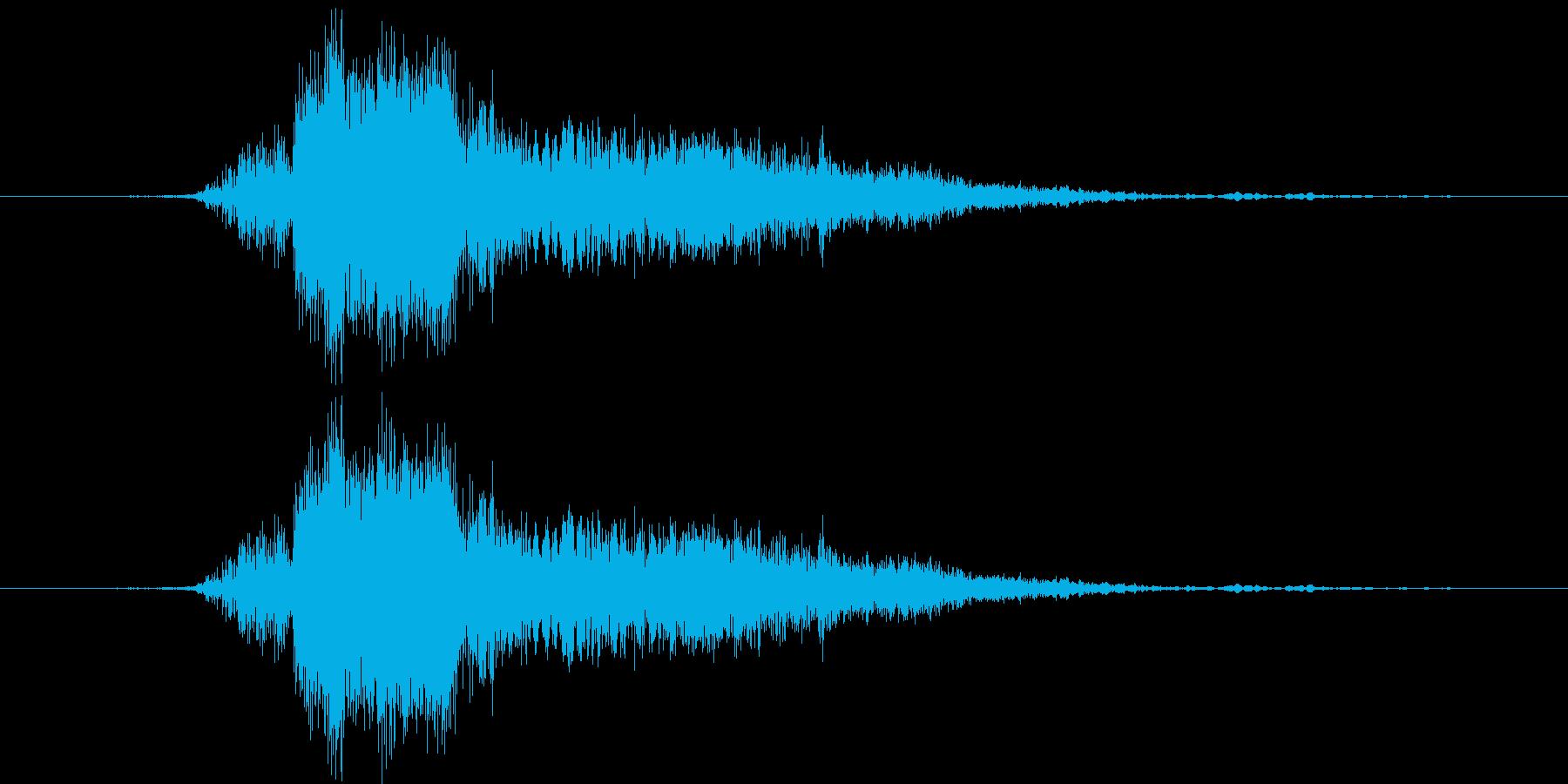 斬撃3の再生済みの波形