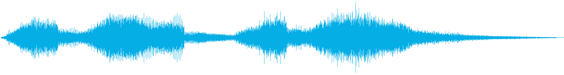 【エレキギター】クリーンストローク音②の再生済みの波形