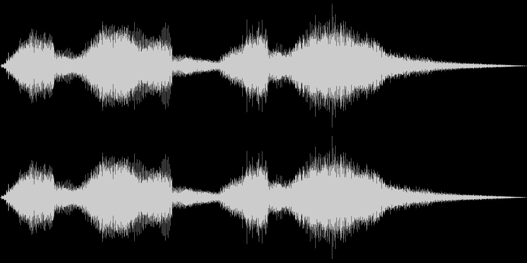 【エレキギター】クリーンストローク音②の未再生の波形