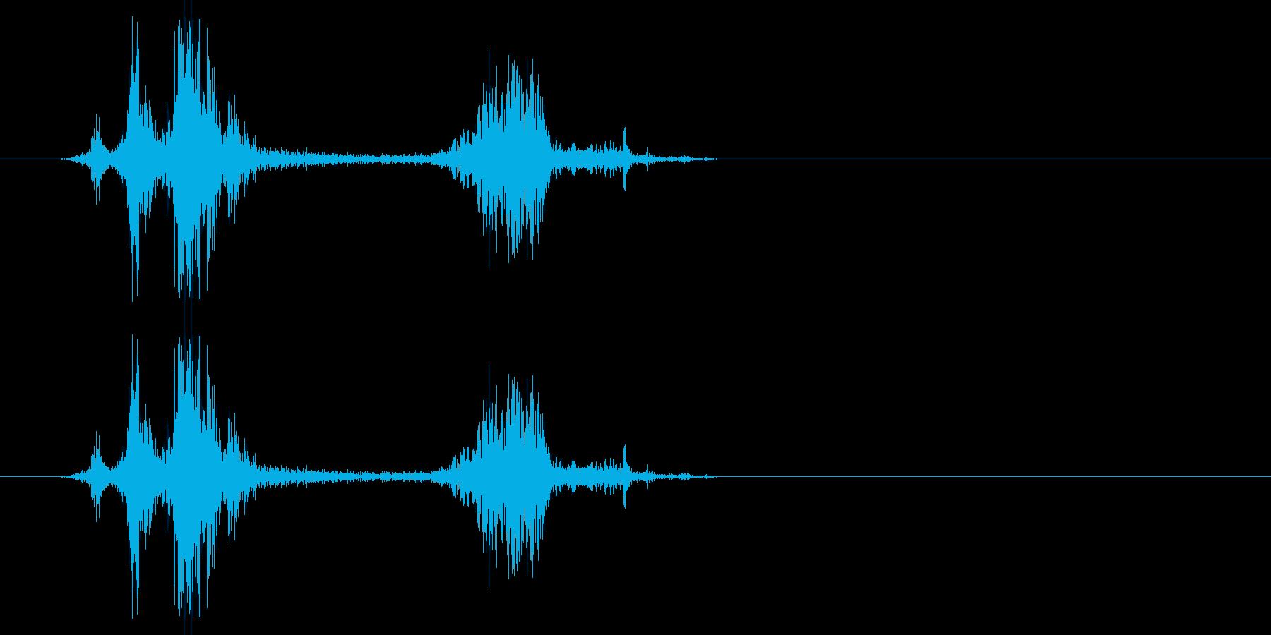 カメラのシャッター音2(クワッシッ)の再生済みの波形
