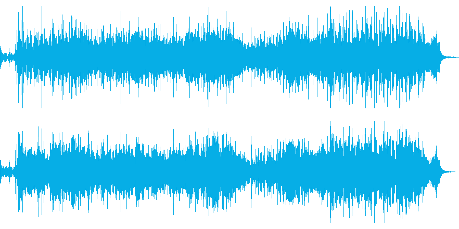 お琴と弦楽器が主役の少し悲しげな曲の再生済みの波形