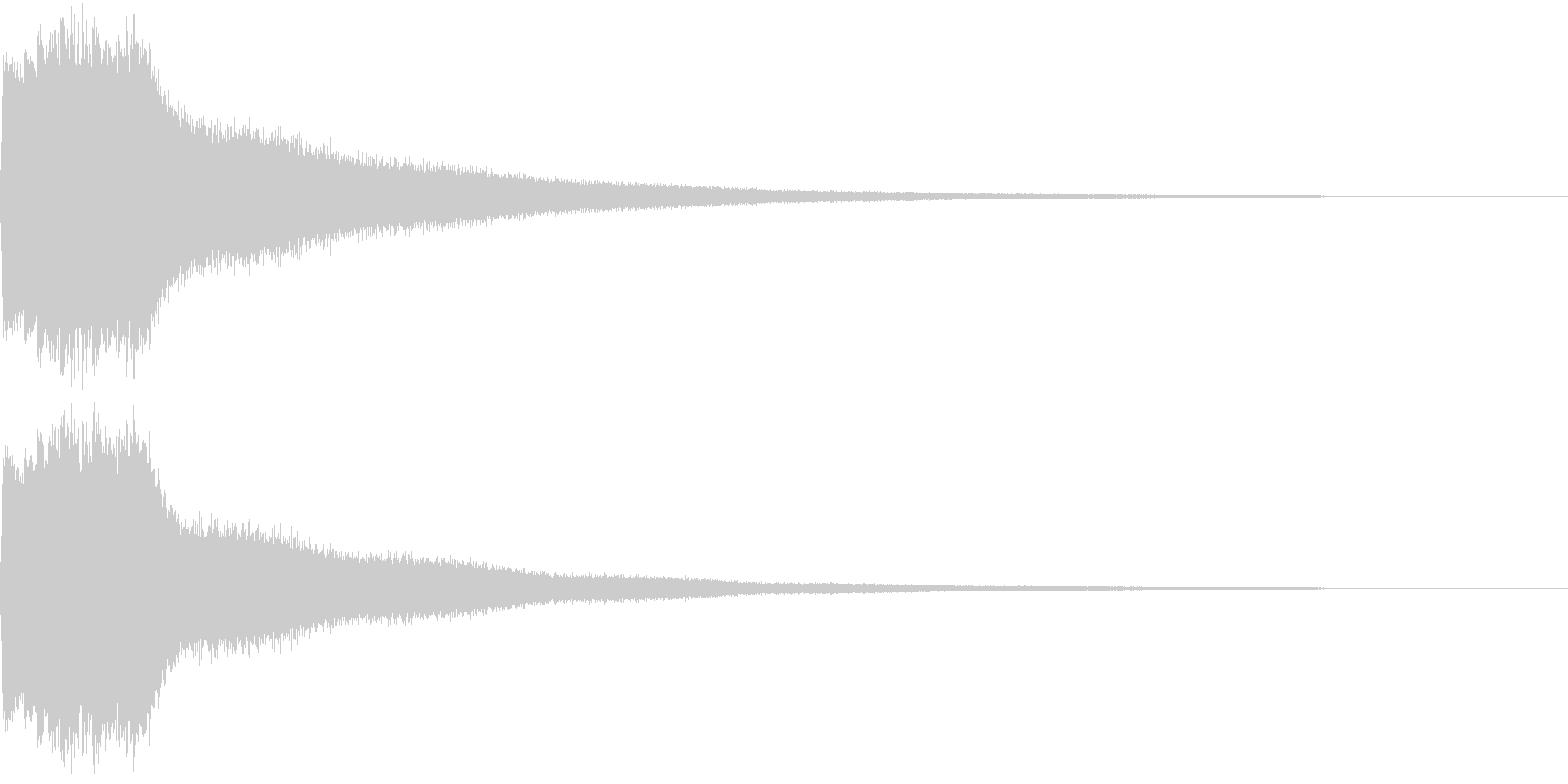 クリック キラリン 明るい 決定 04の未再生の波形