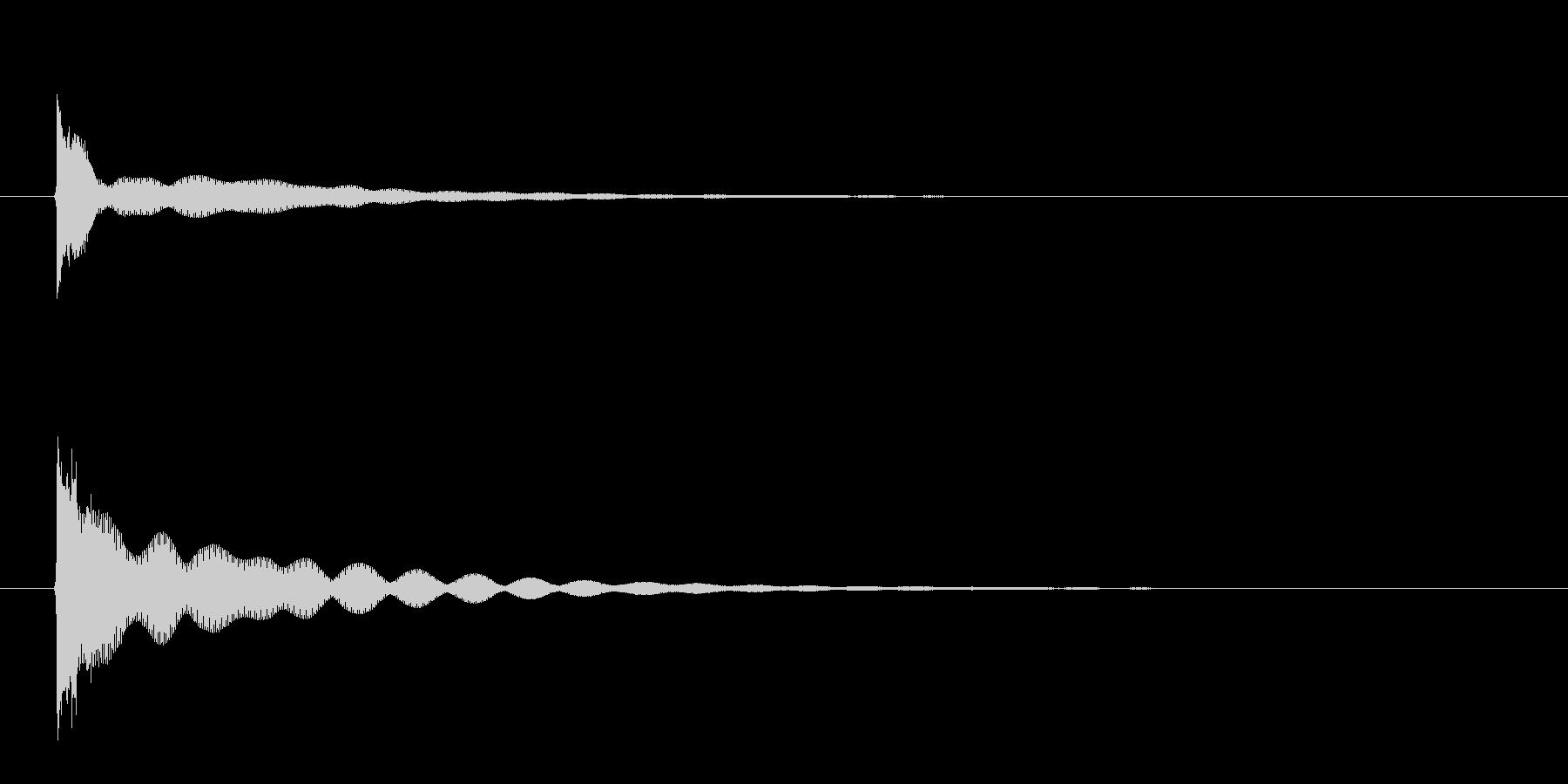チーン(フィンガーシンバルの音)の未再生の波形