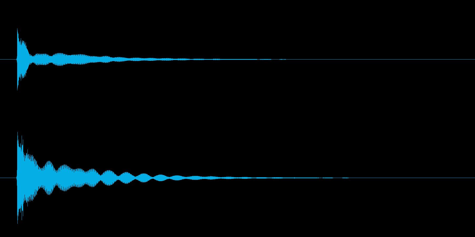 チーン(フィンガーシンバルの音)の再生済みの波形