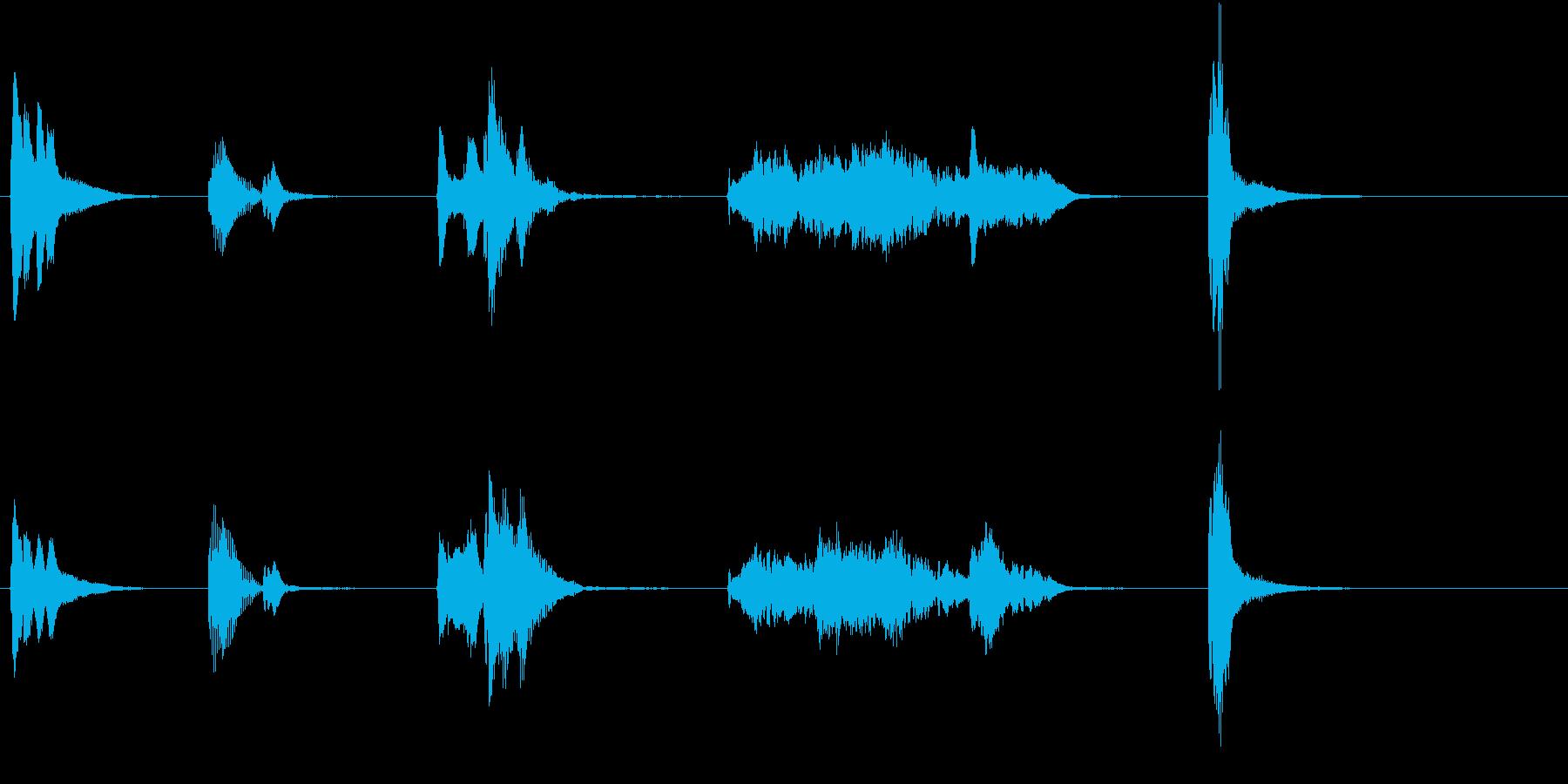 トムとジェリー風アニメ音楽「ウィンク」2の再生済みの波形