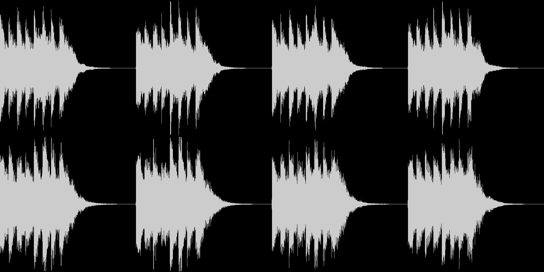 シンプル ベル 着信音 チャイム A11の未再生の波形