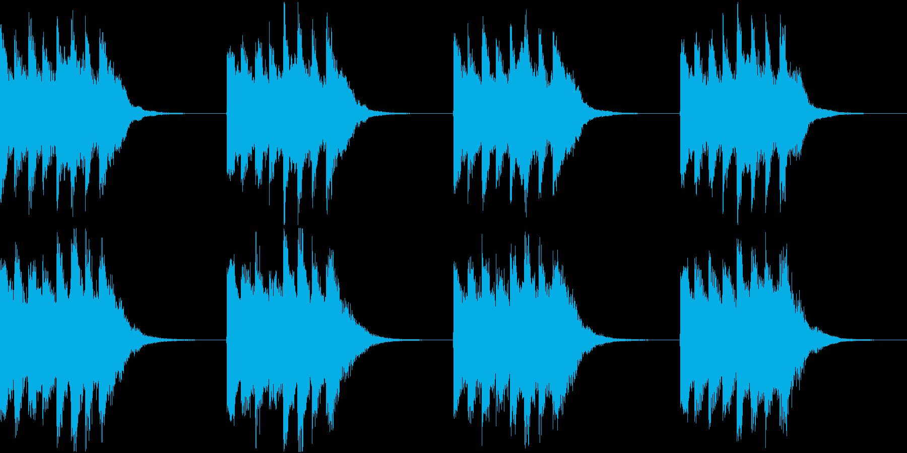 シンプル ベル 着信音 チャイム A11の再生済みの波形