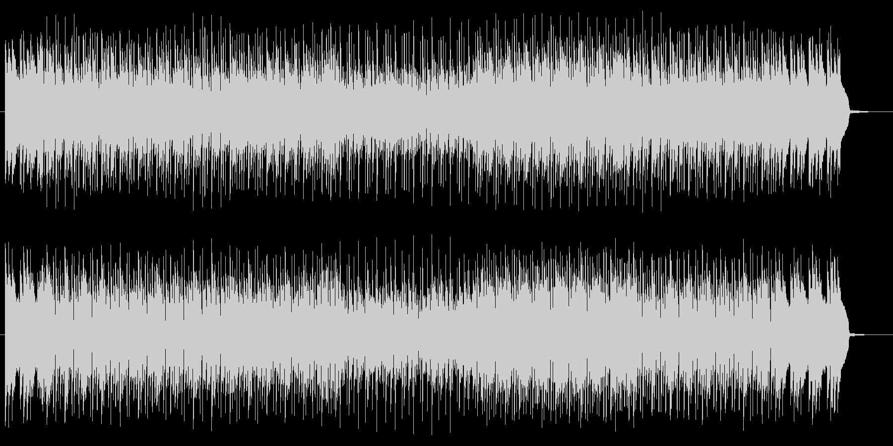疾走感ある神秘的なテクノサウンドの未再生の波形