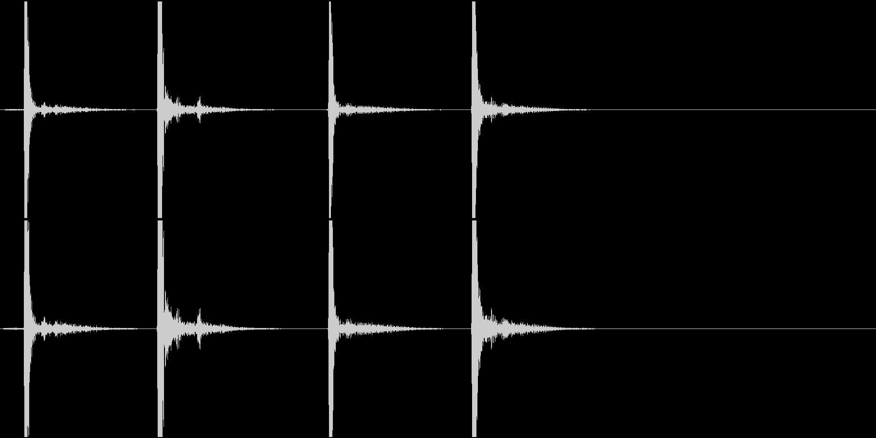 Mouse ダブルクリック マウスの未再生の波形