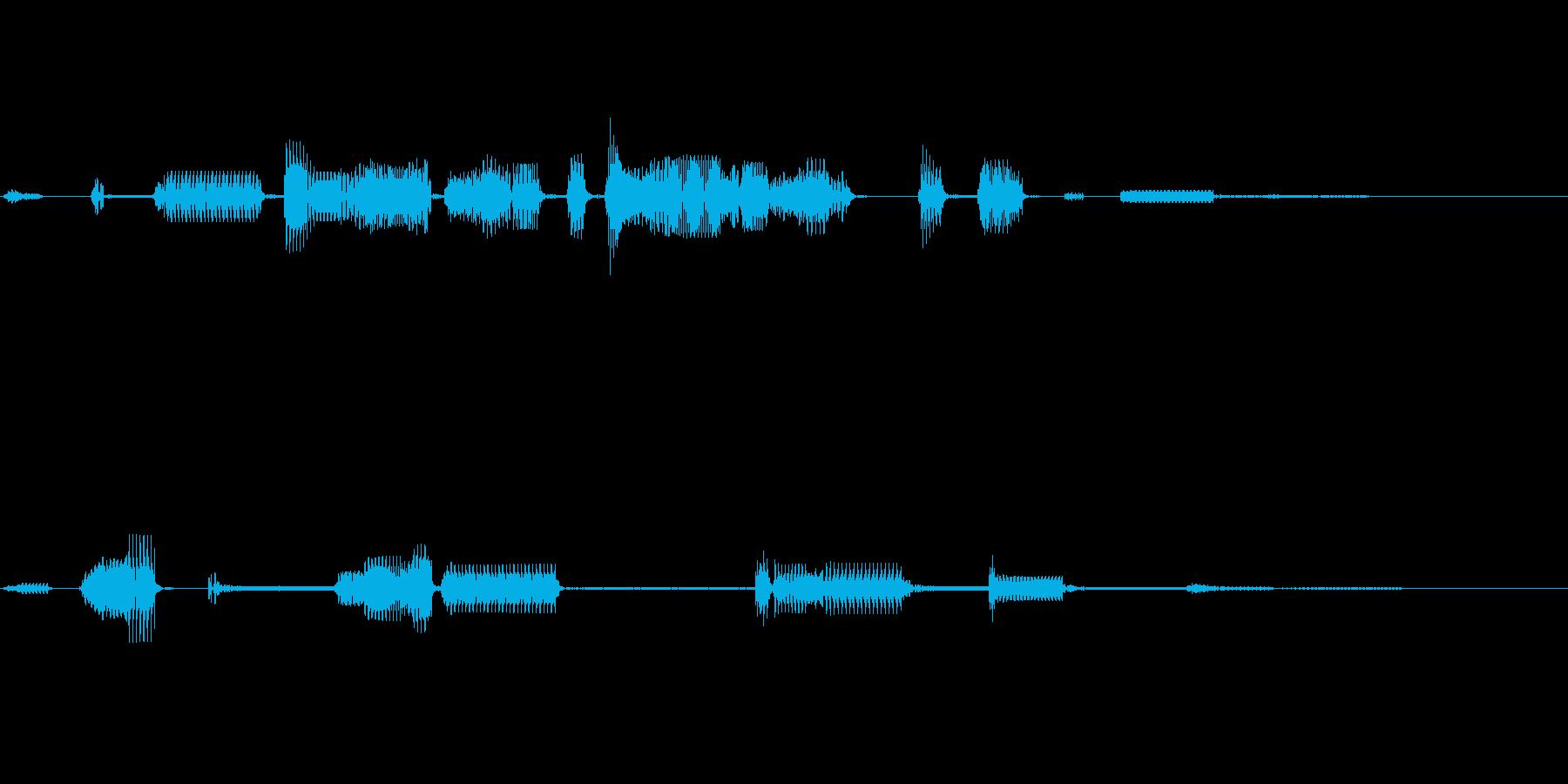 不思議な感じの電子音です。の再生済みの波形