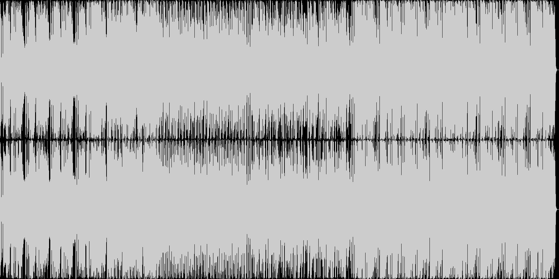 EDMを取り入れたJ-POP風のBGMの未再生の波形