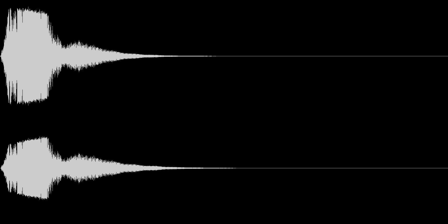 シャキーン! 剣や刀の抜刀音 03の未再生の波形