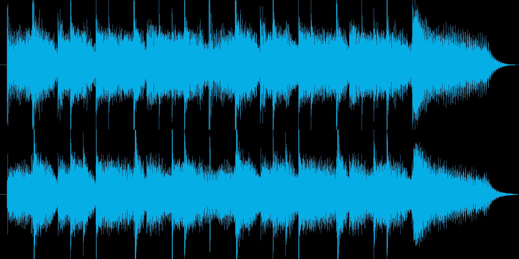 脱力系ピアノによるコミカルなジングルの再生済みの波形
