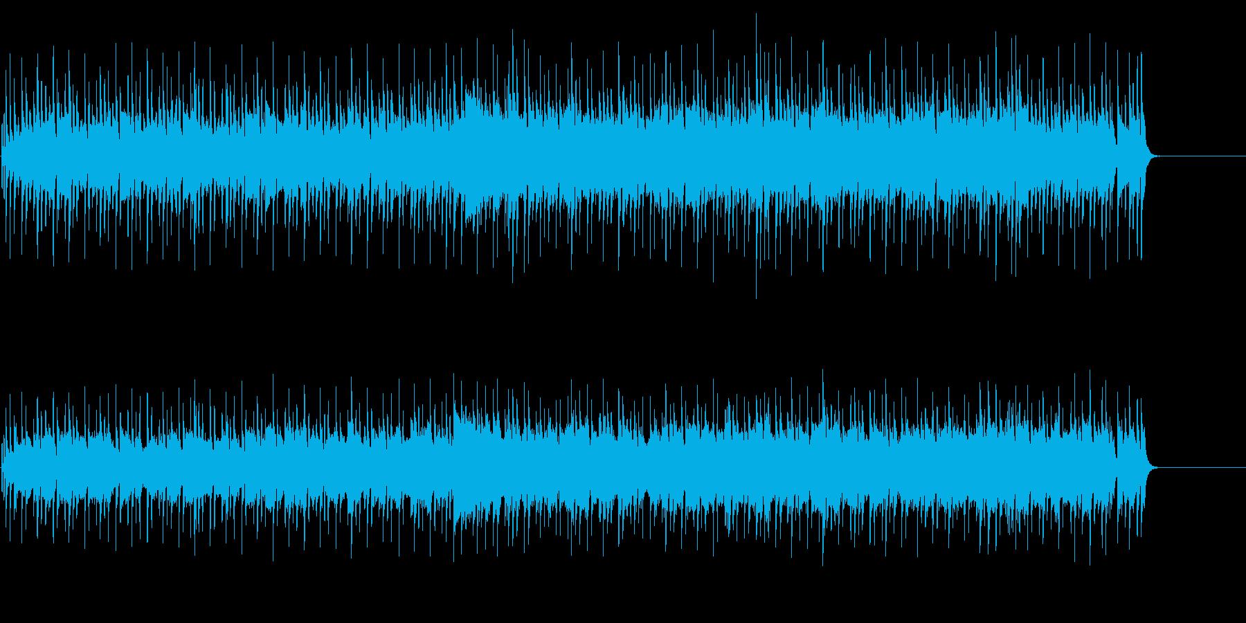 くつろぎのゆったりポップスの再生済みの波形