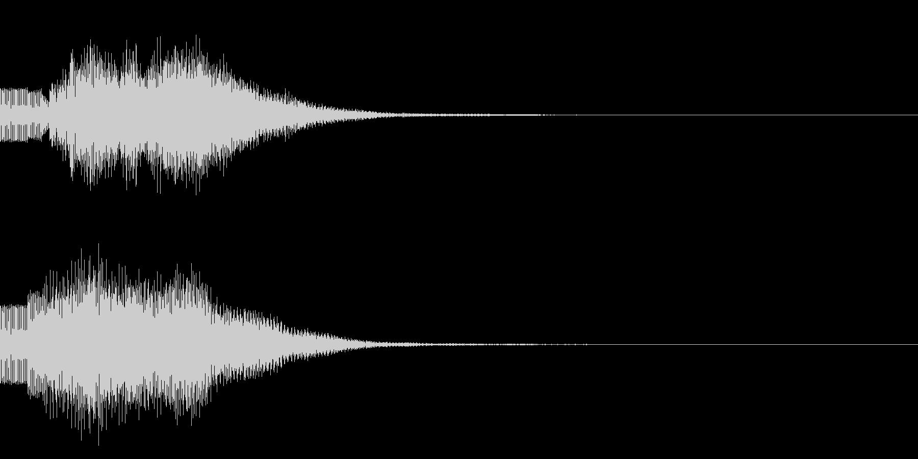 シンプルな決定音 ボタン音 正解音!20の未再生の波形