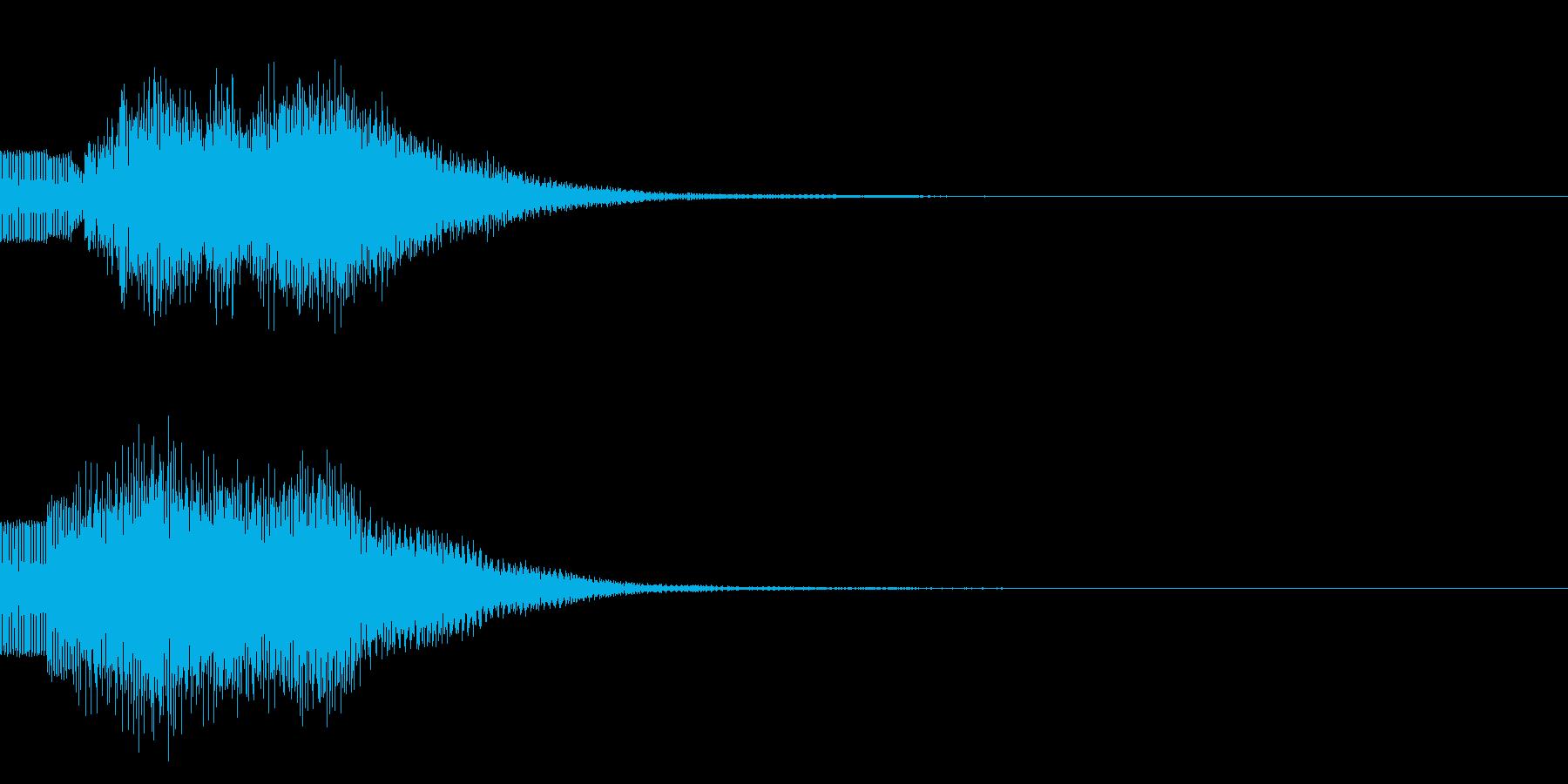 シンプルな決定音 ボタン音 正解音!20の再生済みの波形