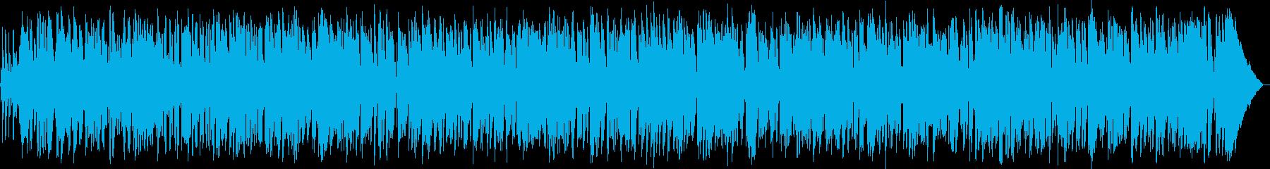 お洒落なカフェ風ギターボサノバの再生済みの波形