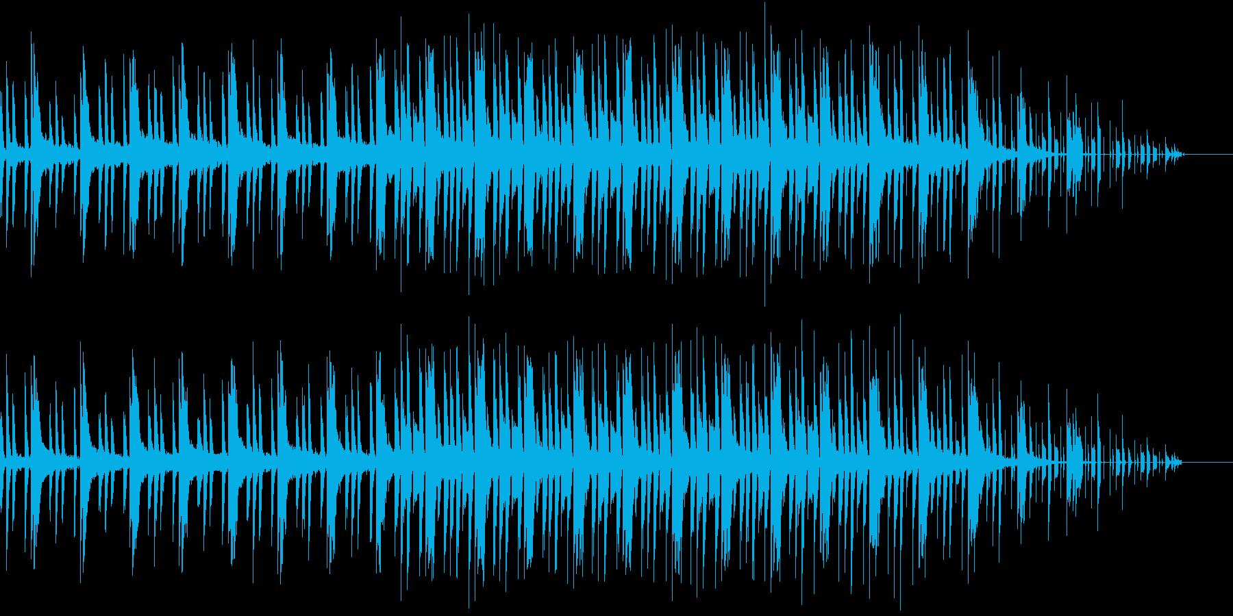 ニュース中の怪しいような雰囲気のBGMの再生済みの波形