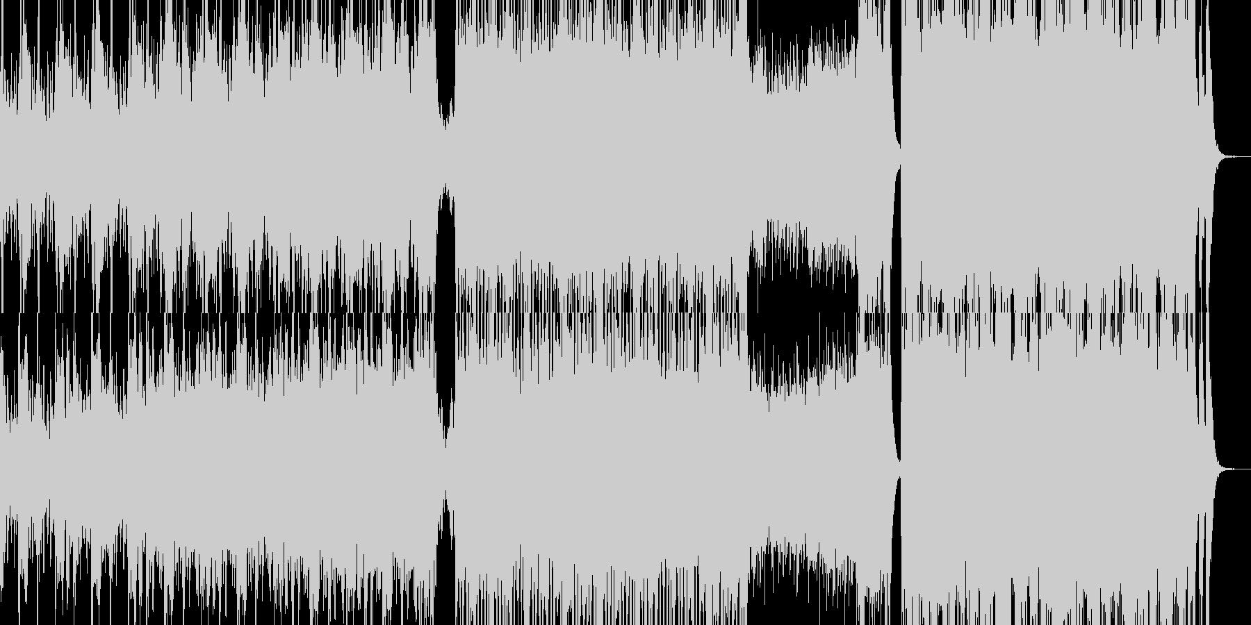 戦闘オーケストラの未再生の波形
