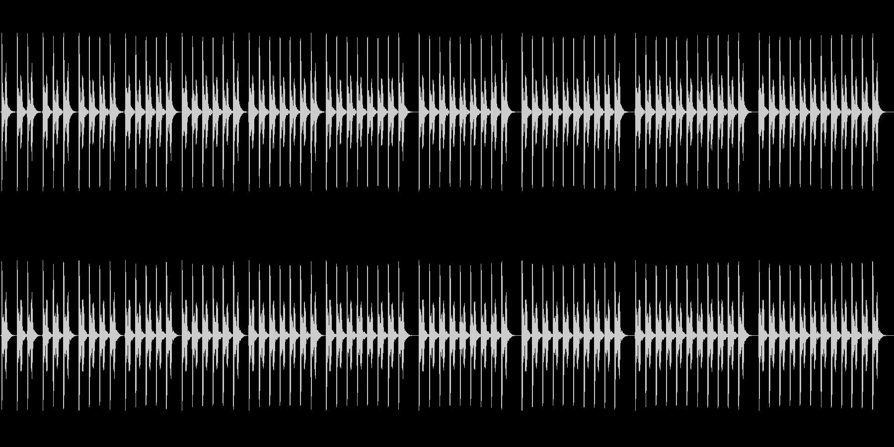 (ポッポ)レトロな鳩時計の時報の未再生の波形