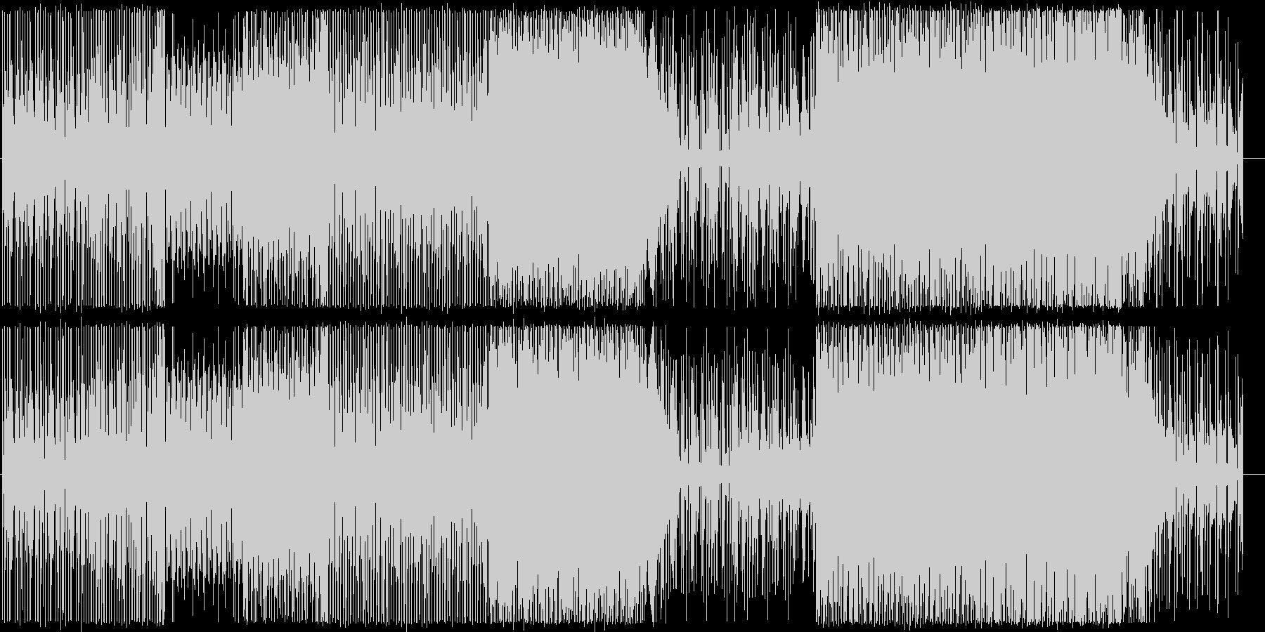 クールで落ち着いたテンポのBGMの未再生の波形