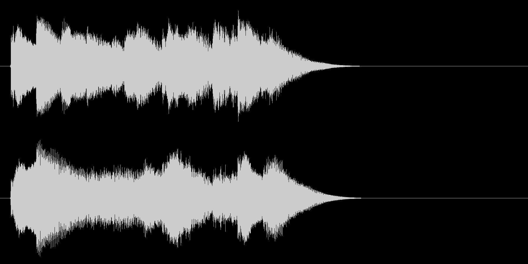 チェレスタのダークメルヘンロゴの未再生の波形