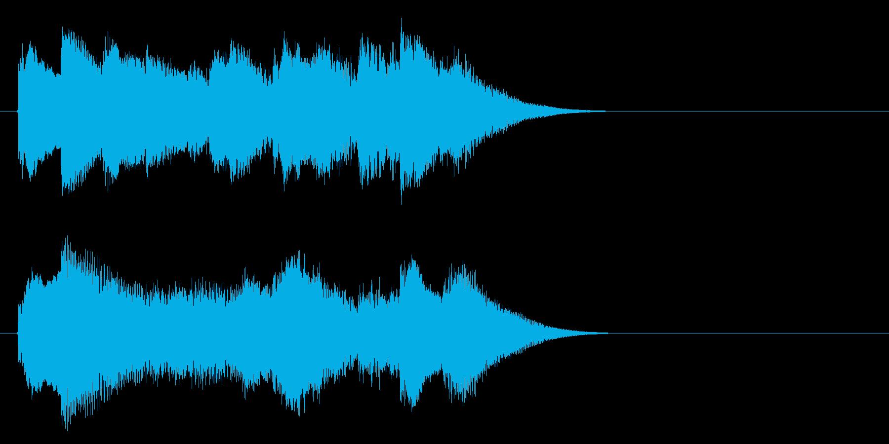 チェレスタのダークメルヘンロゴの再生済みの波形