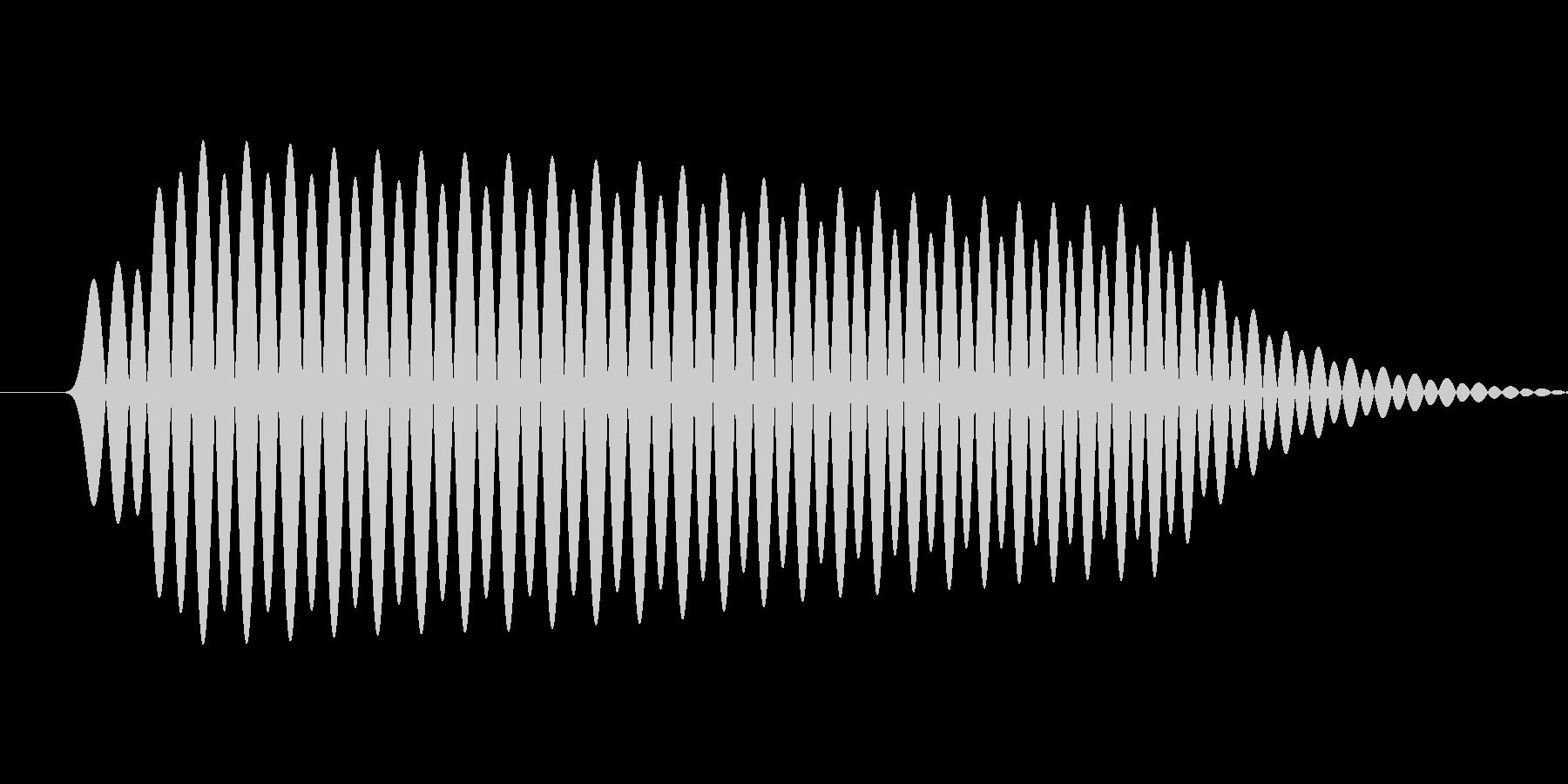 軽めのクリック音の未再生の波形