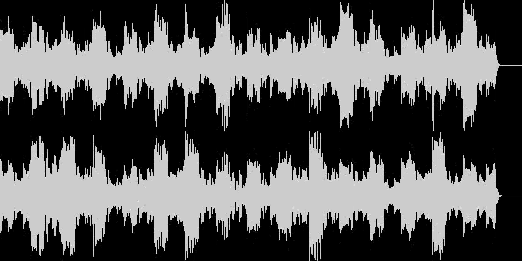 ほのぼのとしたBGMの未再生の波形