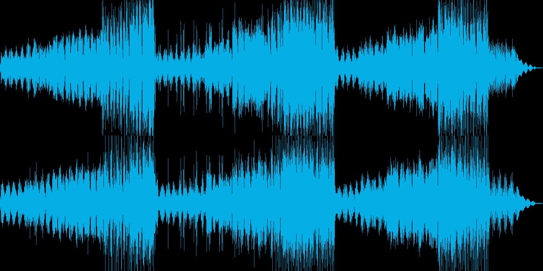 ピアノと民族楽器の温かで静かなBGMの再生済みの波形