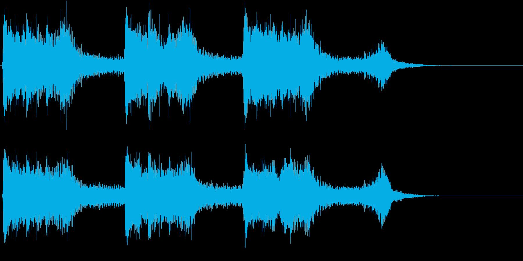 トムとジェリー風なアニメ音楽「驚き」4の再生済みの波形