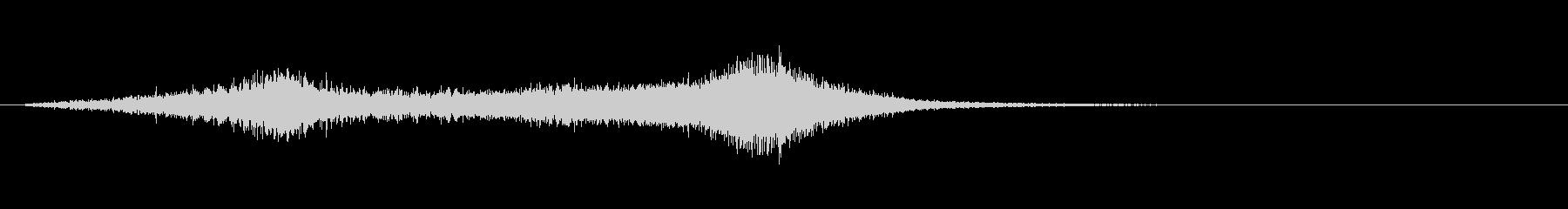 不安感を煽るバイオリン等のフレーズの未再生の波形