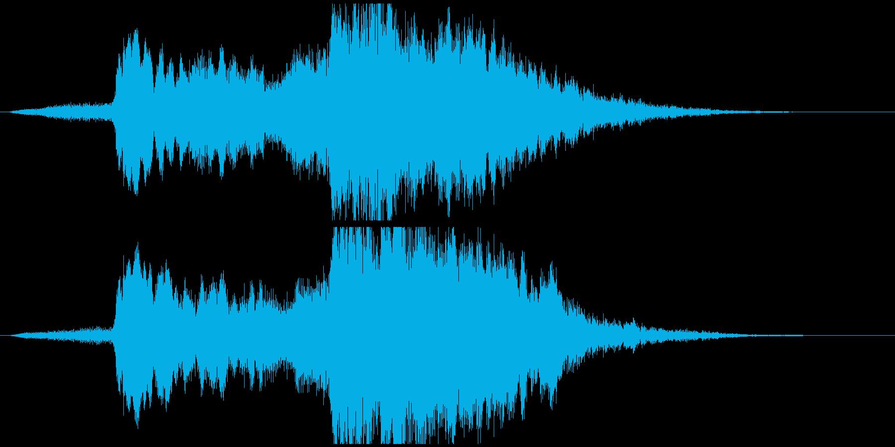 海の幻想的なイメージの再生済みの波形