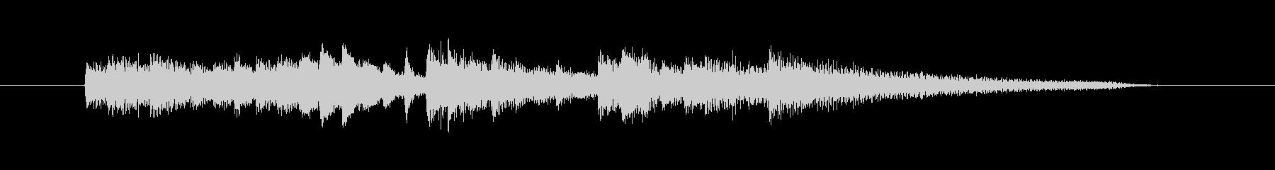 ピアノのおしゃれなアルペジオのジングルの未再生の波形