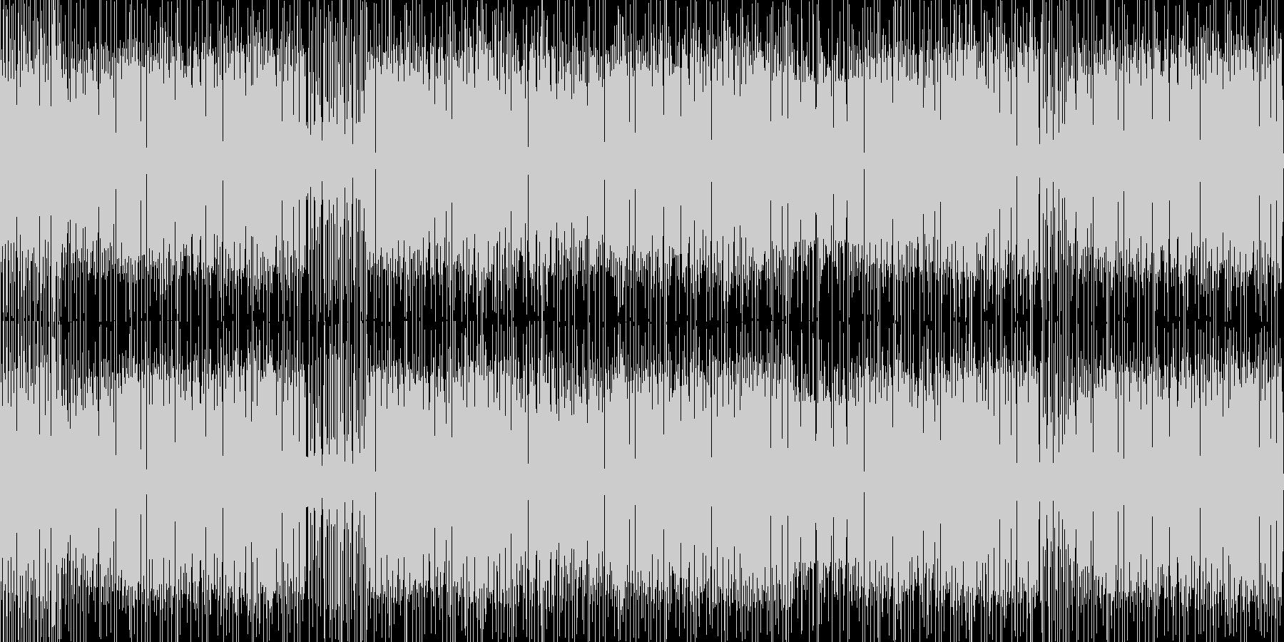 ヘタうま感たっぷりなレゲエポップの未再生の波形