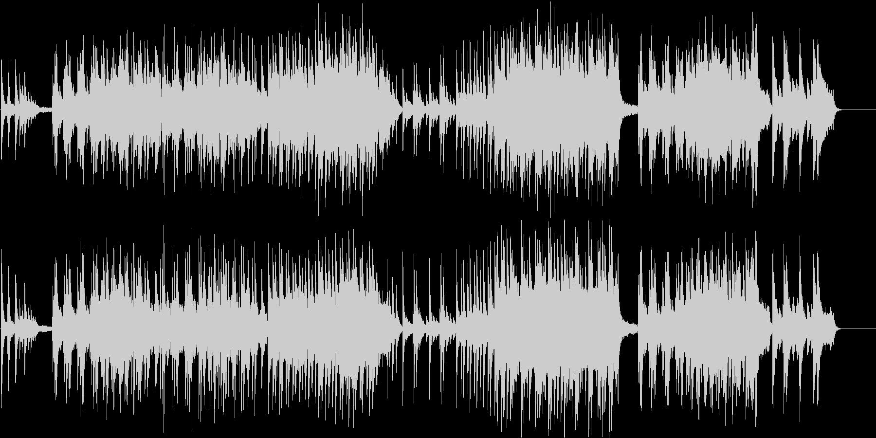 清々しいピアノ曲の未再生の波形
