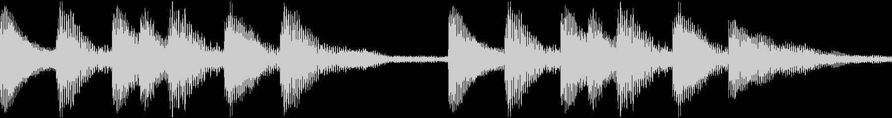 通知着信音マリンバジングル1(ループ)の未再生の波形