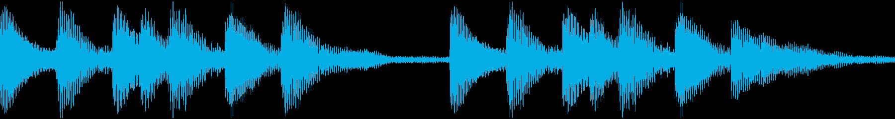 通知着信音マリンバジングル1(ループ)の再生済みの波形
